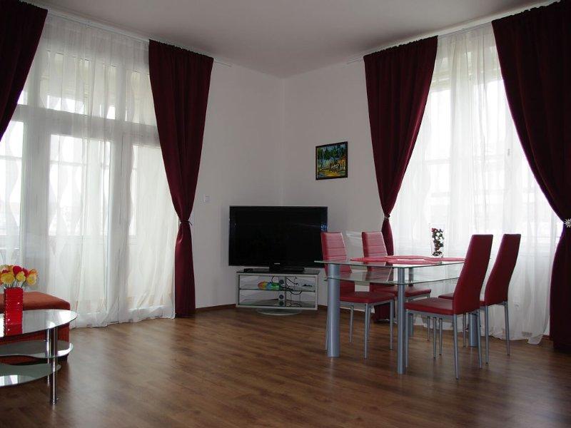 Spacious Prague view apartment 106 sqm, vacation rental in Prague