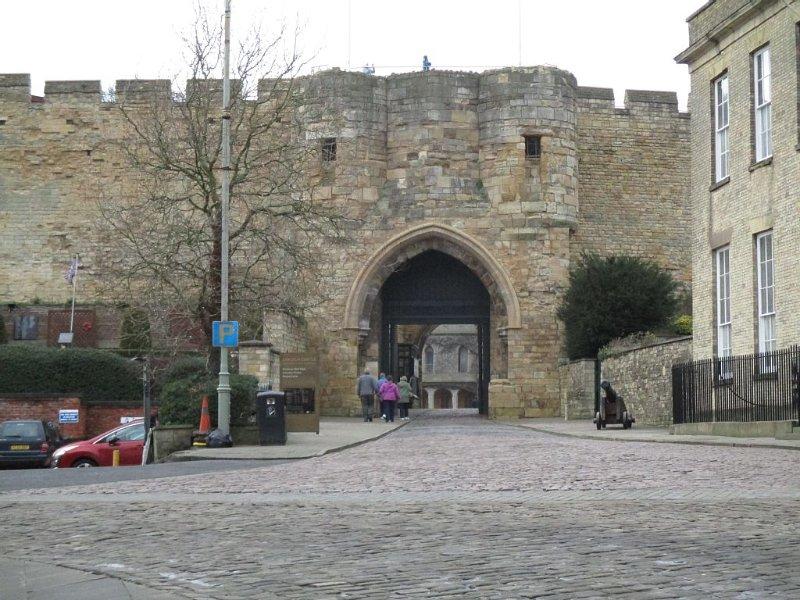 Lincoln Castle with Magna Carta and Victorian Prison. Castle Wall walk