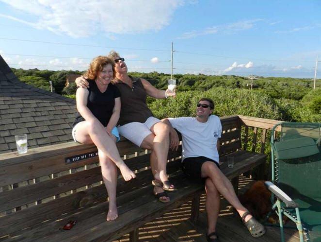 Top Deck overlooking the Oaks and Ocean!