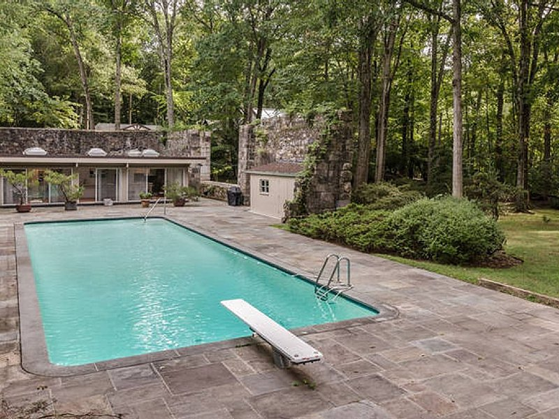 Private 3.5 acre estate  Zen House /Historic mid century modern  / lap pool, holiday rental in Chappaqua