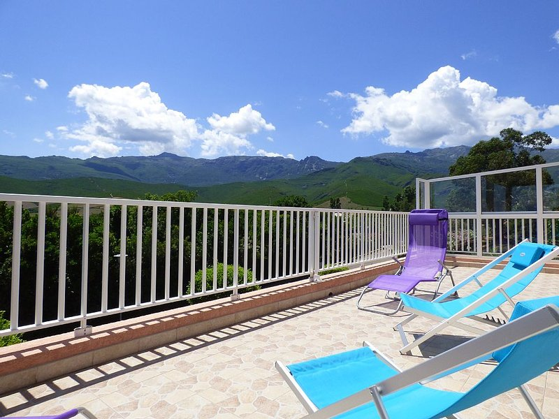 Spacious terrace overlooking the maquis