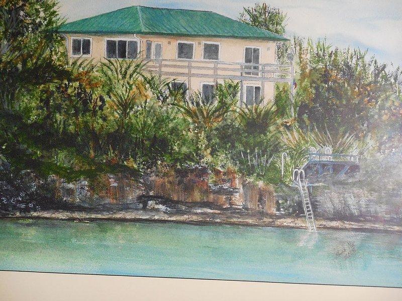 ROMANTIC, LUXURY OCEAN FRONT VILLA A+Amentities, location de vacances à Rock Sound