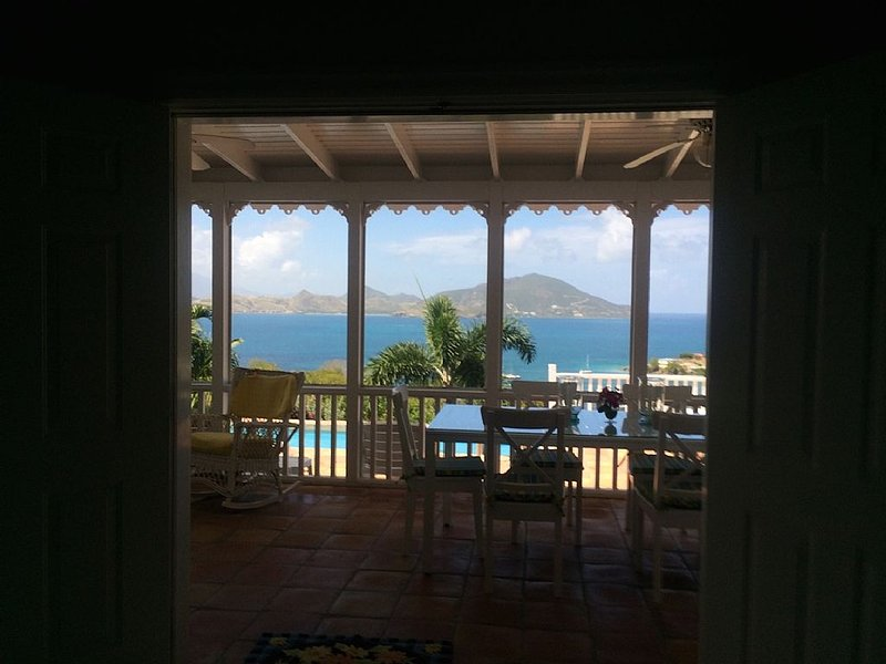 Best Location on Nevis - Spectacular views from this 2 bedroom Villa with pool, vacation rental in Turtle Beach