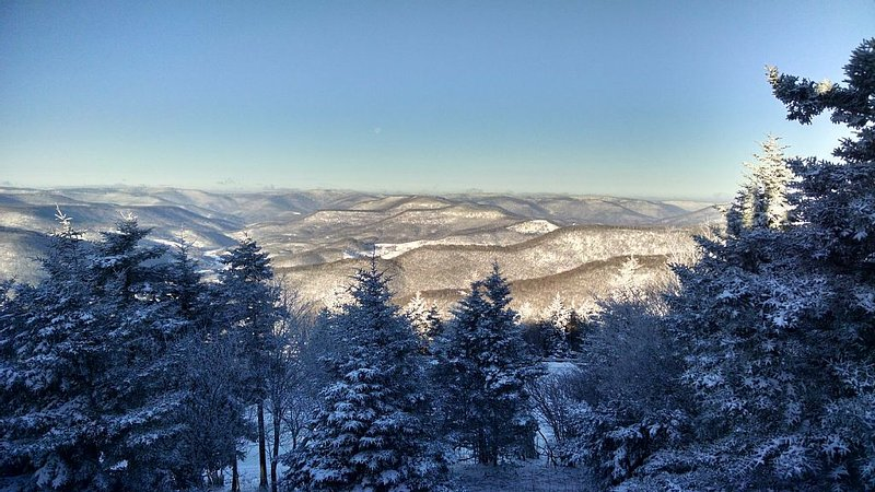 Best mountain views at Snowshoe from the Mountain Crest 28   back deck.