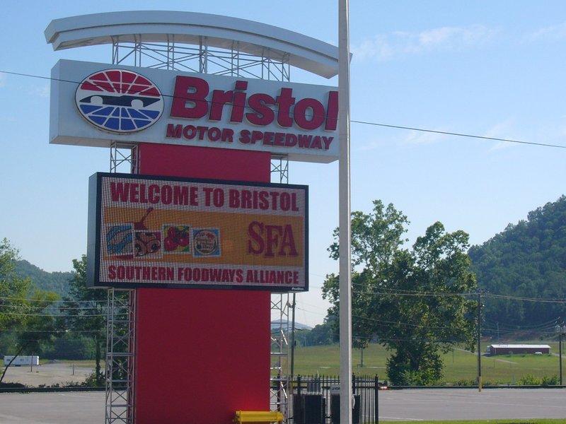 Just 15 miles from Bristol Motor Speedway.