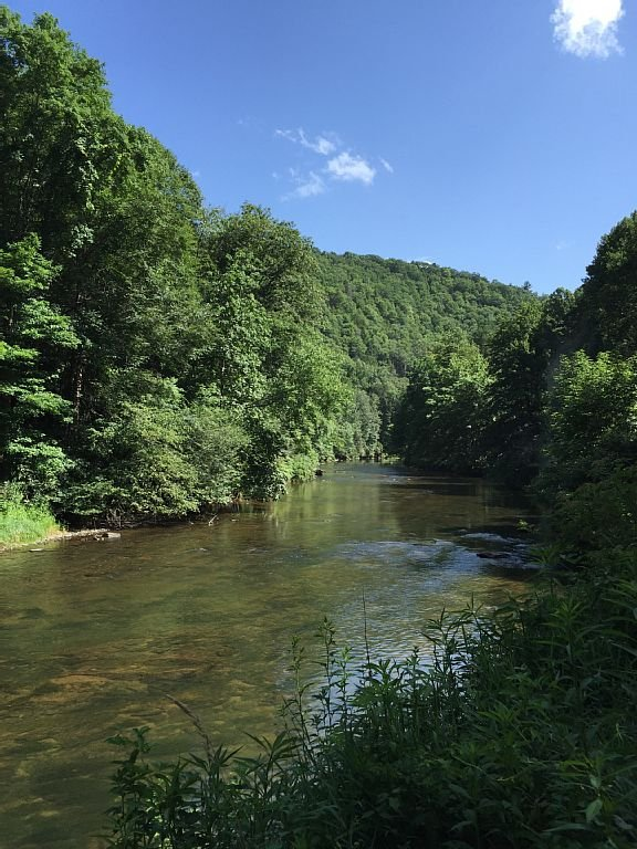 South Fork New River - Put in is 1.5 miles from cabin