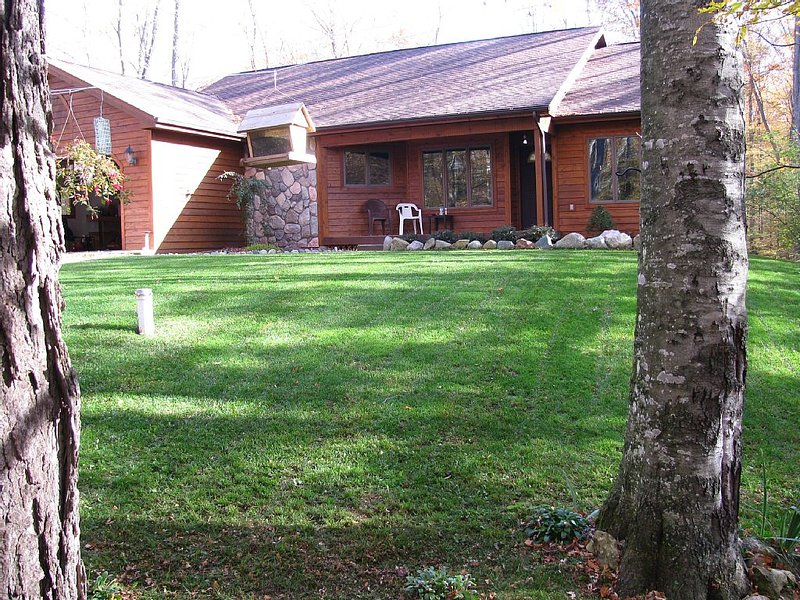 Mushrooms in Petoskey 3 br.home -10 private ac. beaches, hiking, birdwatching!, holiday rental in Petoskey