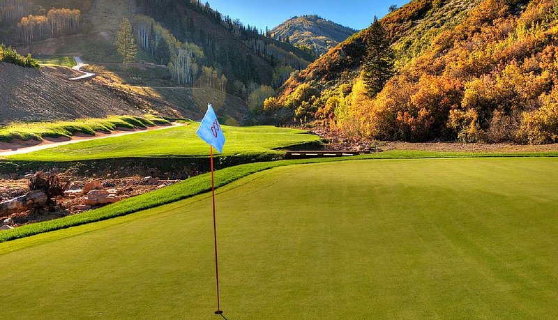 Just a Pitching Wedge Away From the 14th Green at Canyons Village Golf Course