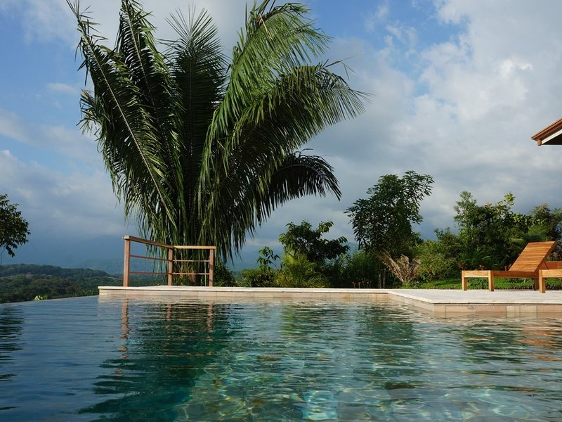 Stunning infinity pool with ocean and mountain views for you to enjoy!, holiday rental in San Carlos