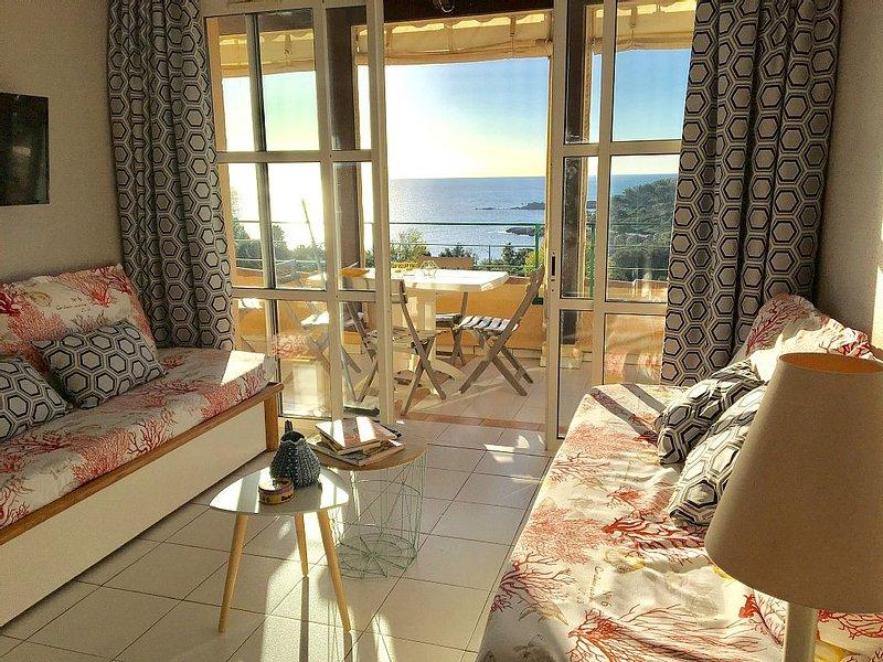 Cap Esterel Village 3 pièces avec terrasse, Vue mer exceptionnelle, holiday rental in Le Dramont