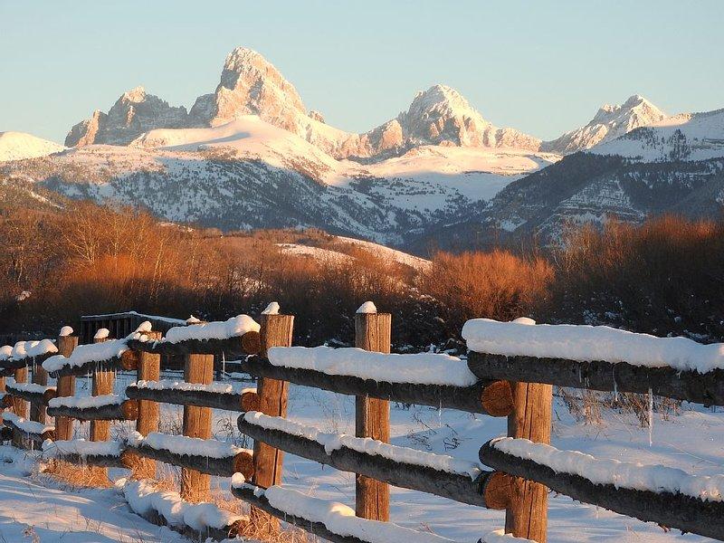Beautiful Driggs cabin w/ spectacular Teton views near Grand Targhee Ski resort!, holiday rental in Driggs