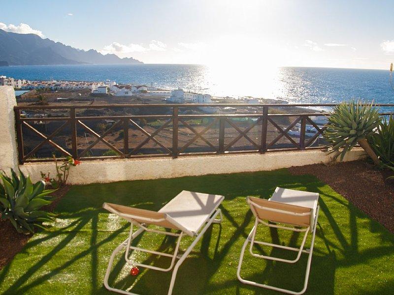 Ruhiges Apartment mit Panorama-Terrasse, aluguéis de temporada em Agaete