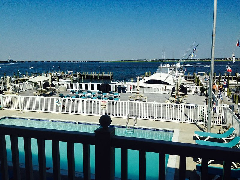 Spectacular waterfront view from every room!  Pool!  Updated!, vacation rental in Somers Point