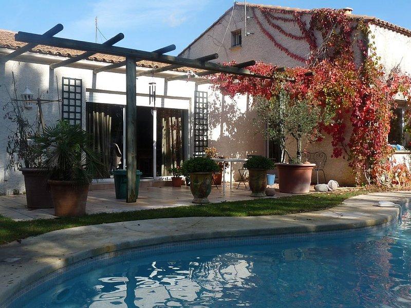 Jolie villa avec jardin et piscine entre mer et montagne Titre, aluguéis de temporada em Les Matelles