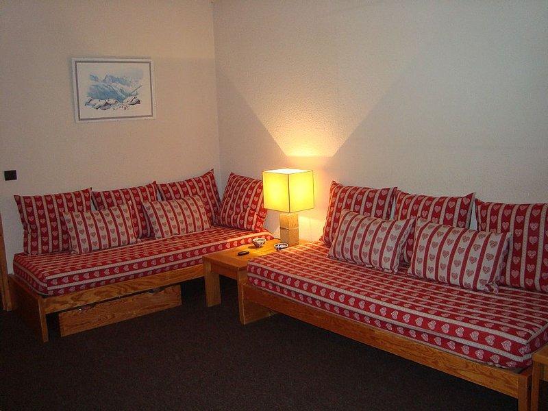 Appartement tout équipé  8 personnes situation exceptionnelle vue sur les pistes, alquiler de vacaciones en Plagne Bellecote