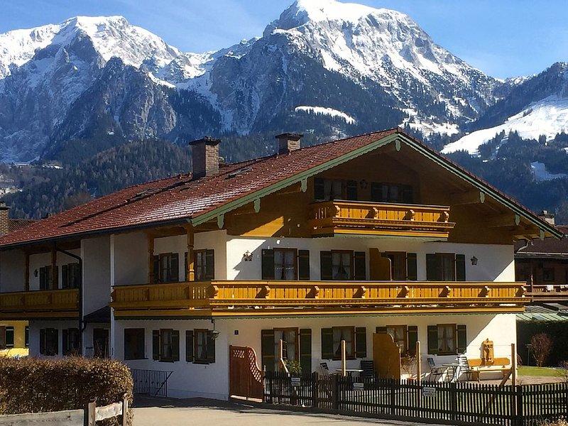 Sonnige Wohnung am Königssee mit Bergblick, holiday rental in Berchtesgaden