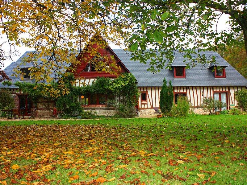 Maison Normande dans un environnement exceptionnel, location de vacances à Saint-Paër
