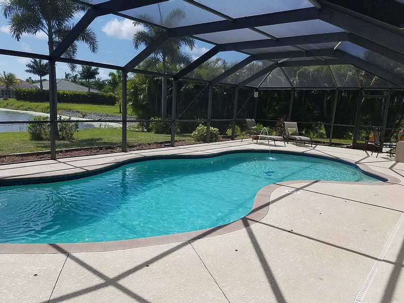 Relax by the heated pool!