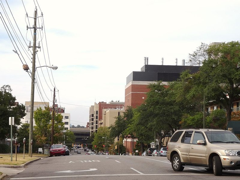 One street down to the right of the Apt. are UAB medial buildings and hospitals