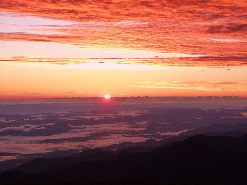 Tres Cruces sunrise (where the Andes Mountains drop into the Amazon Basin)