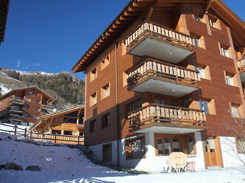 2 Bedroom Ski Apartment Next to the Piste and Ski Lifts, vacation rental in Grimentz