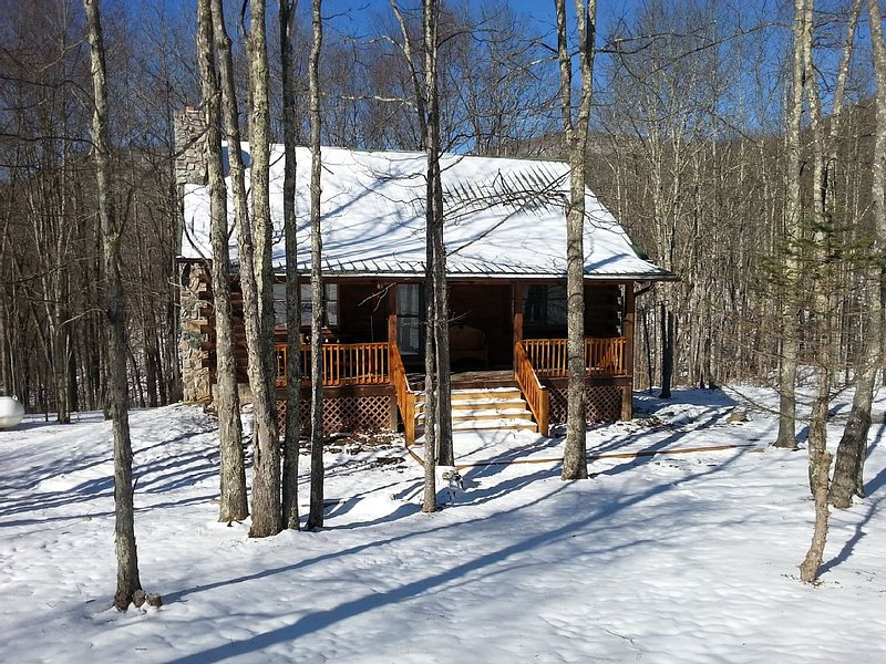 Cozy Log Cabin Close to Snowshoe, 2 Bedrooms and a Loft, location de vacances à Webster Springs