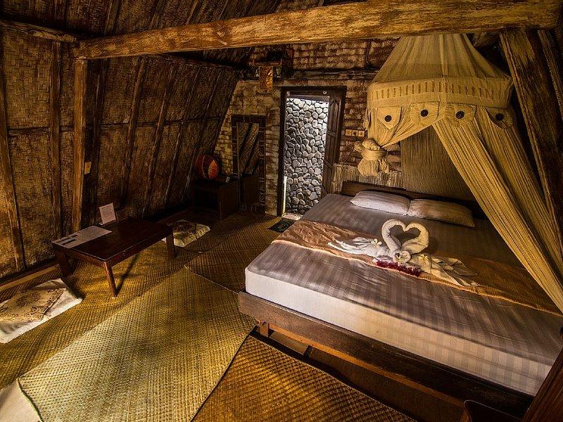 Santhika Bed and Breakfast Lumbung bungalow, Ferienwohnung in Kaliasem