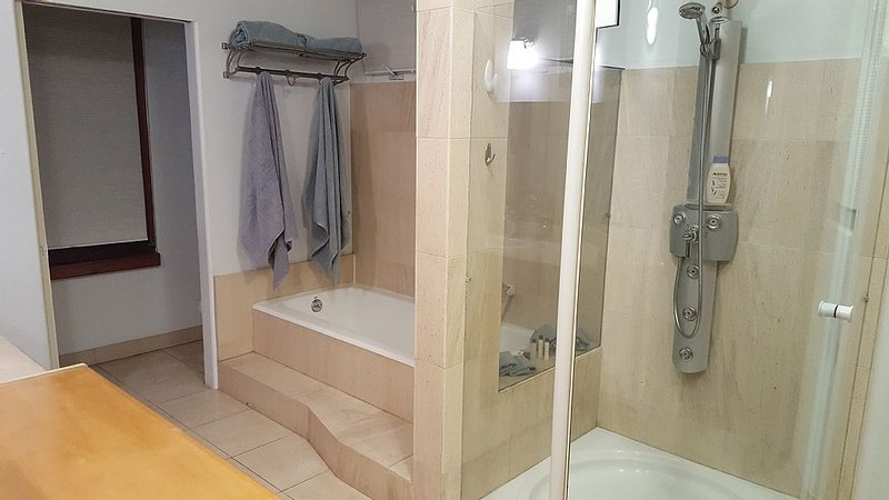 Master Bathroom with full size soaking tub, and separate shower!