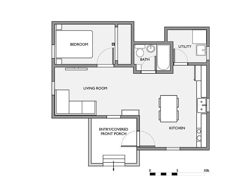 Floor plan showing space configuration.