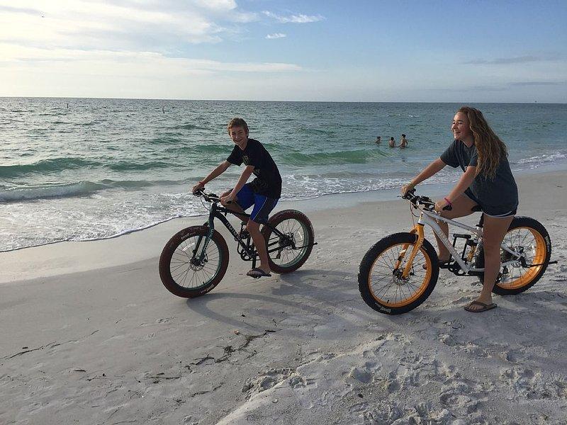 Bike rentals across the street on the beach