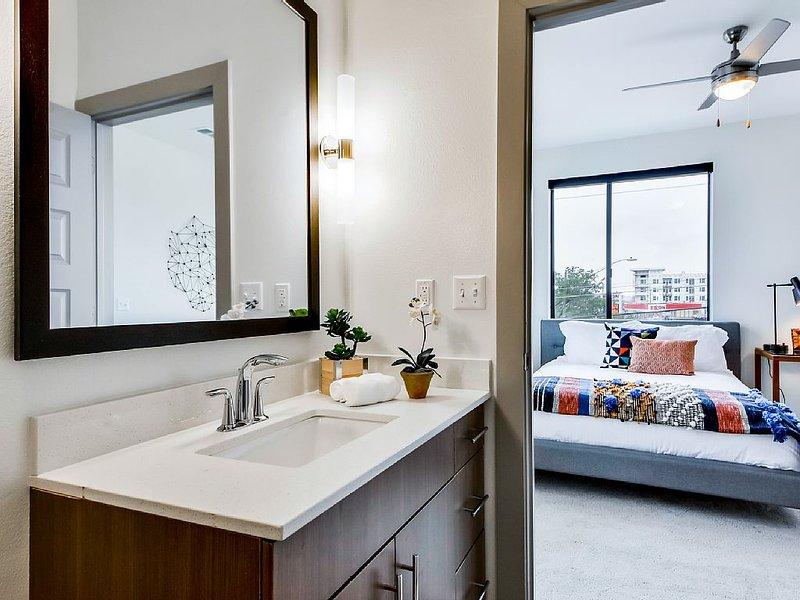 In-suite master bath.