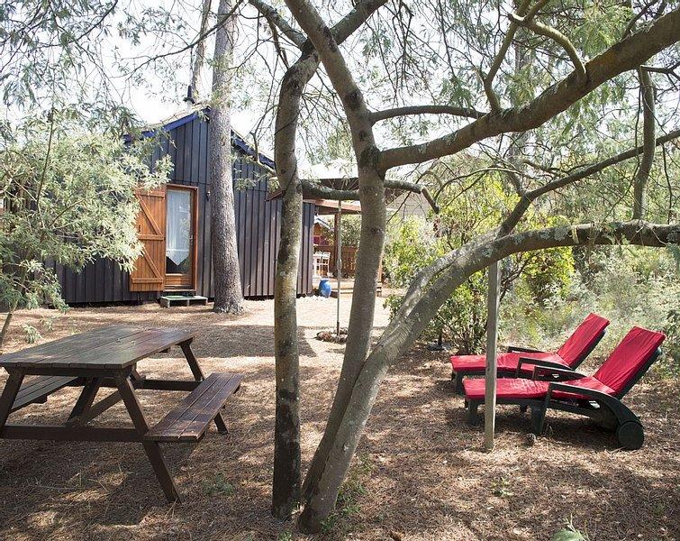 Chalet de charme au milieu des arbres et des écureuils..., holiday rental in Soulac-sur-Mer