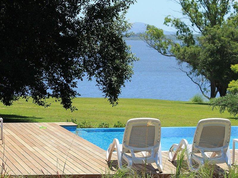 The pool facing the laguna