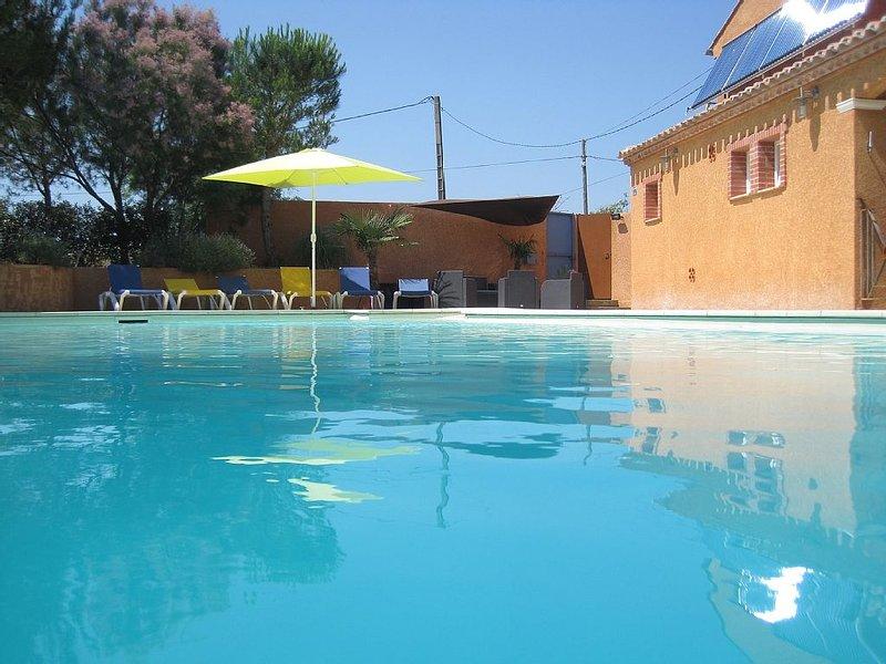 Gîte 'TERRASSE' avec piscine promo du 11 au 25 juillet, vakantiewoning in Saint-Andre-de-Roquelongue