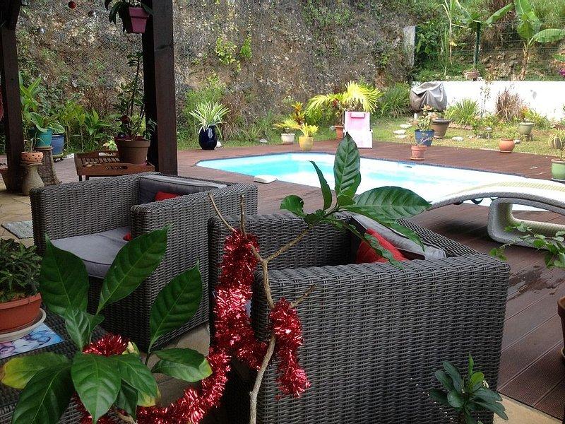 Vos vacances dans un espace magnifique avec piscine et balnéo, holiday rental in Le Gosier
