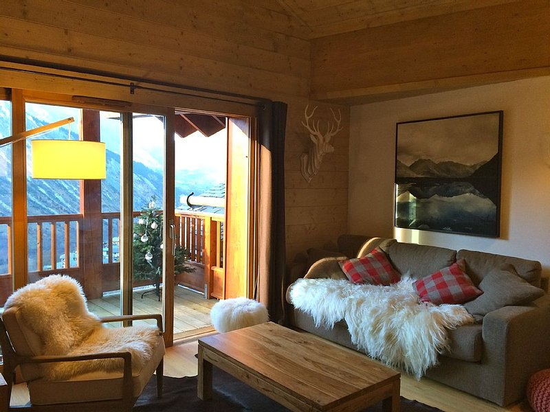 Ski in & out, en haut du village de St Martin, 83M2, charme, vue et gd confort – semesterbostad i Saint-Martin-de-Belleville