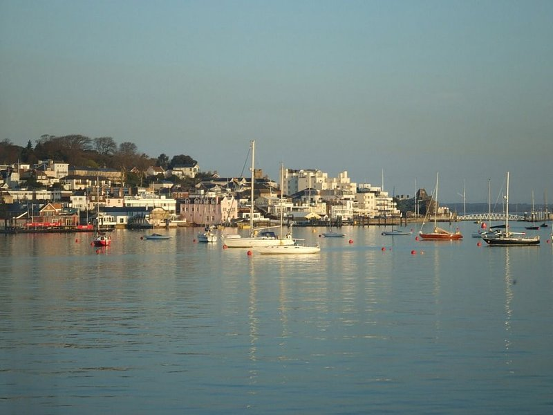 Looking over at West Cowes