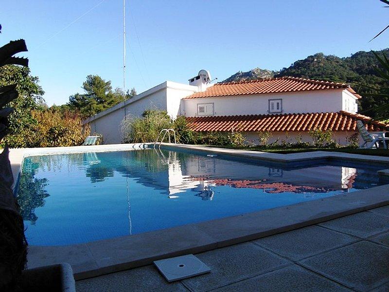 Villa Lello, beautiful villa in Colares, garden and pool, near beach, vacation rental in Sintra Municipality