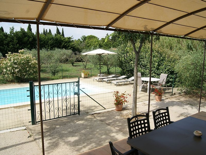 Detached air-conditioned house, private pool in olive grove of 2000 sqm, holiday rental in Barbentane