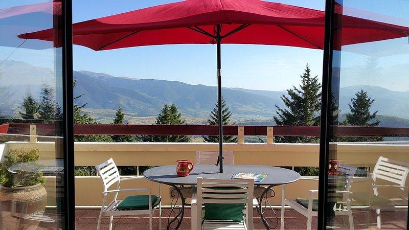 Font-Romeu Bel appartement 80m2  Terrasse Sud Vue Panoramique Sur Les Pyrénées, vacation rental in Pyrenees-Orientales