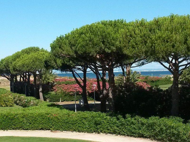 Belle terrasse vue mer/ Accés direct plage/ Appartement 6 pers. avec 2 chambres, vacation rental in Le Grau-du-Roi