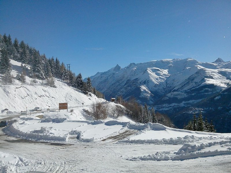 Apartment of 65m2 on the slopes with stunning views over the Meije, holiday rental in Auris