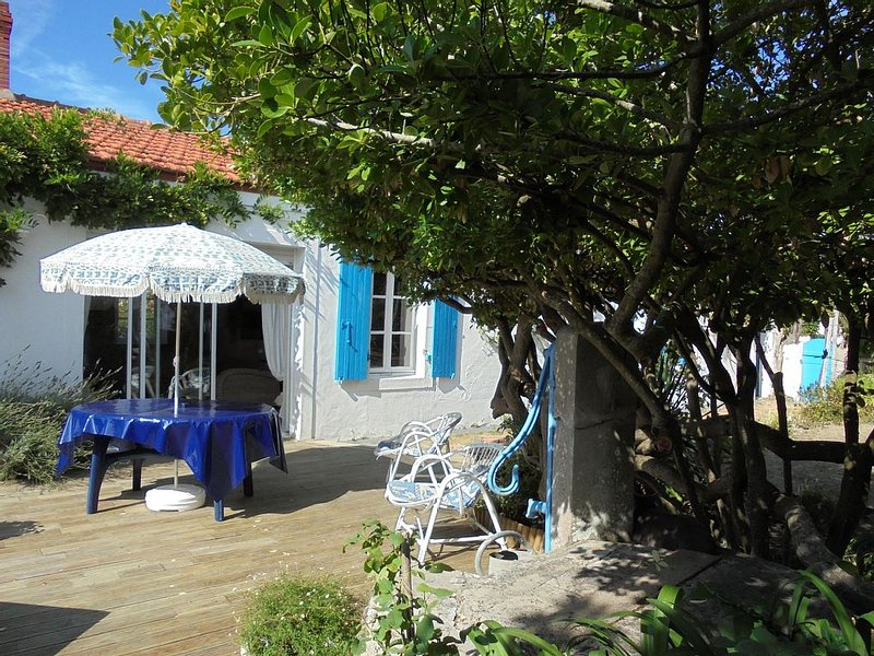 Maison de pays rénovée de  70 M2 environ avec jardin clos, holiday rental in Barbatre