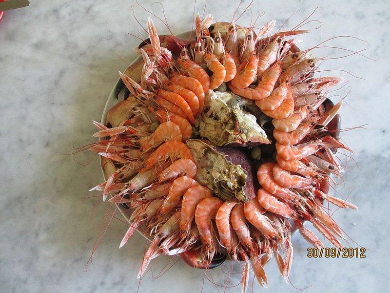 Possibilité de commande de plateaux de fruits de mer.
