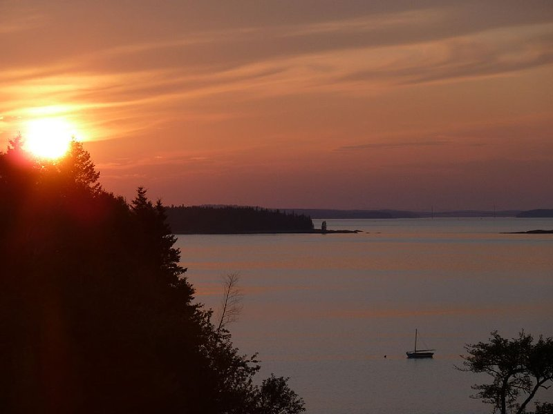 Sunset from a the family house a few hundred feet to the south of cottage