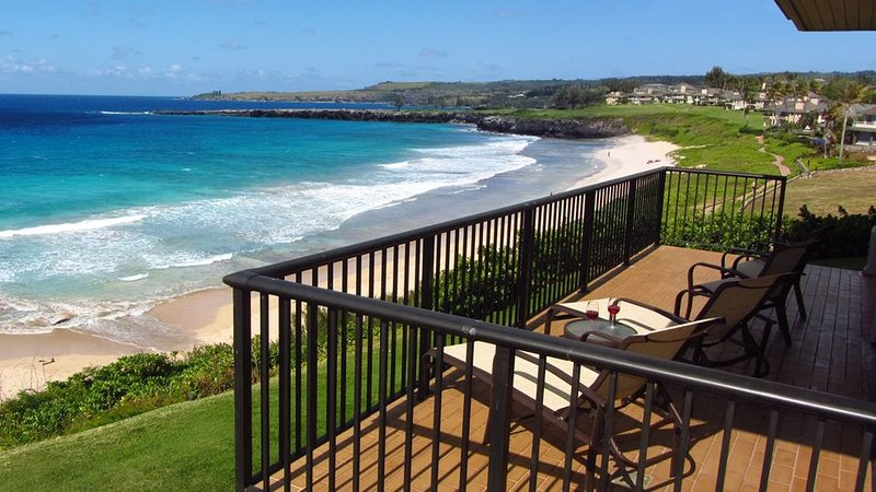 Kapalua Bay Villa Gold 180* Ocean Views! Direct Beach Front Location!, vacation rental in Kapalua