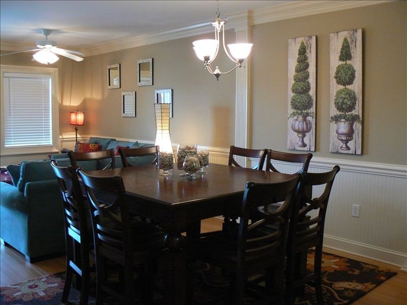 Dining Room Area Off of Living Room and Kitchen Seating 8