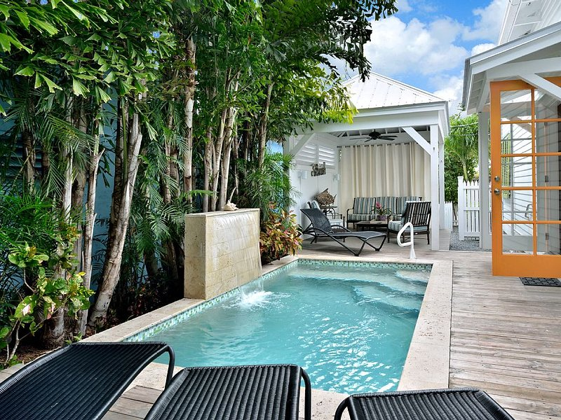 Chick-a-Pea Cottage has an amazing pool with waterfall!