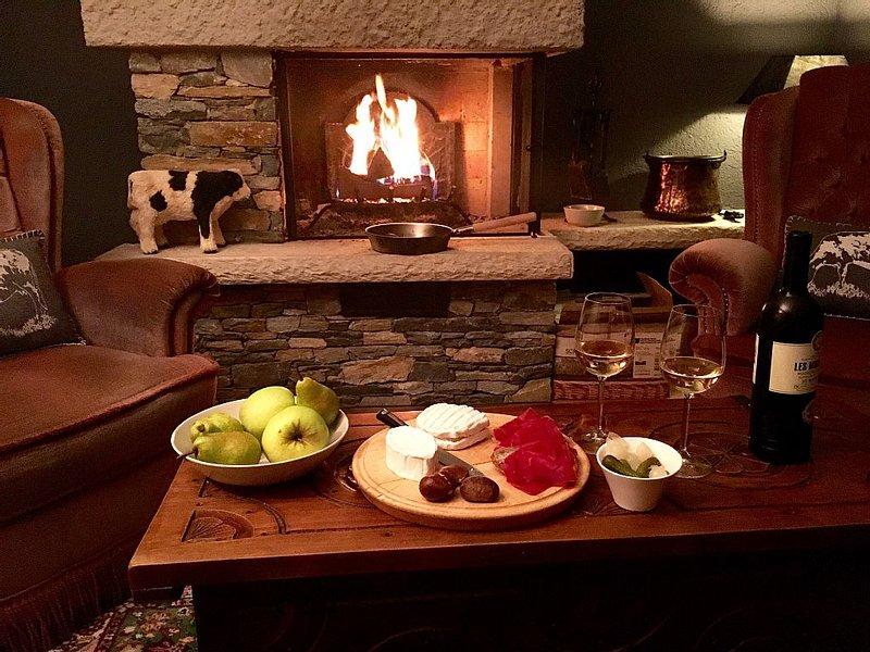 Enjoy a relaxing evening by the fire!