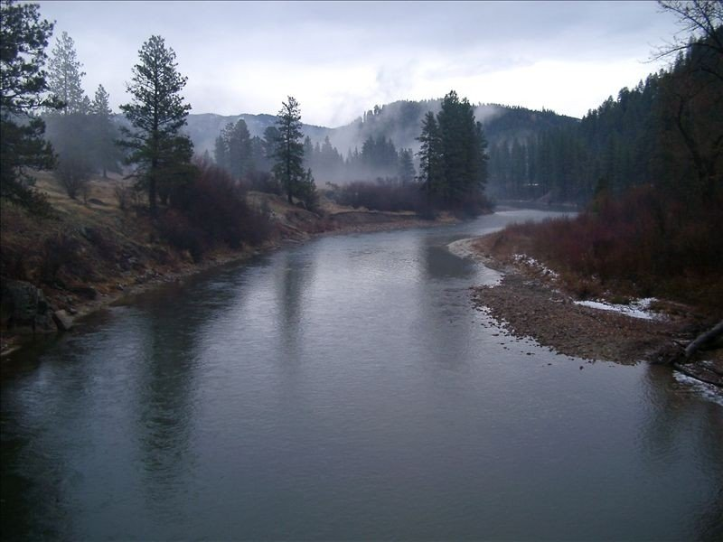 South Fork of the Payette just downstream from the cabin